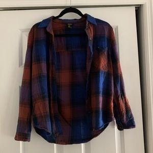 Blue and Orange Flannel